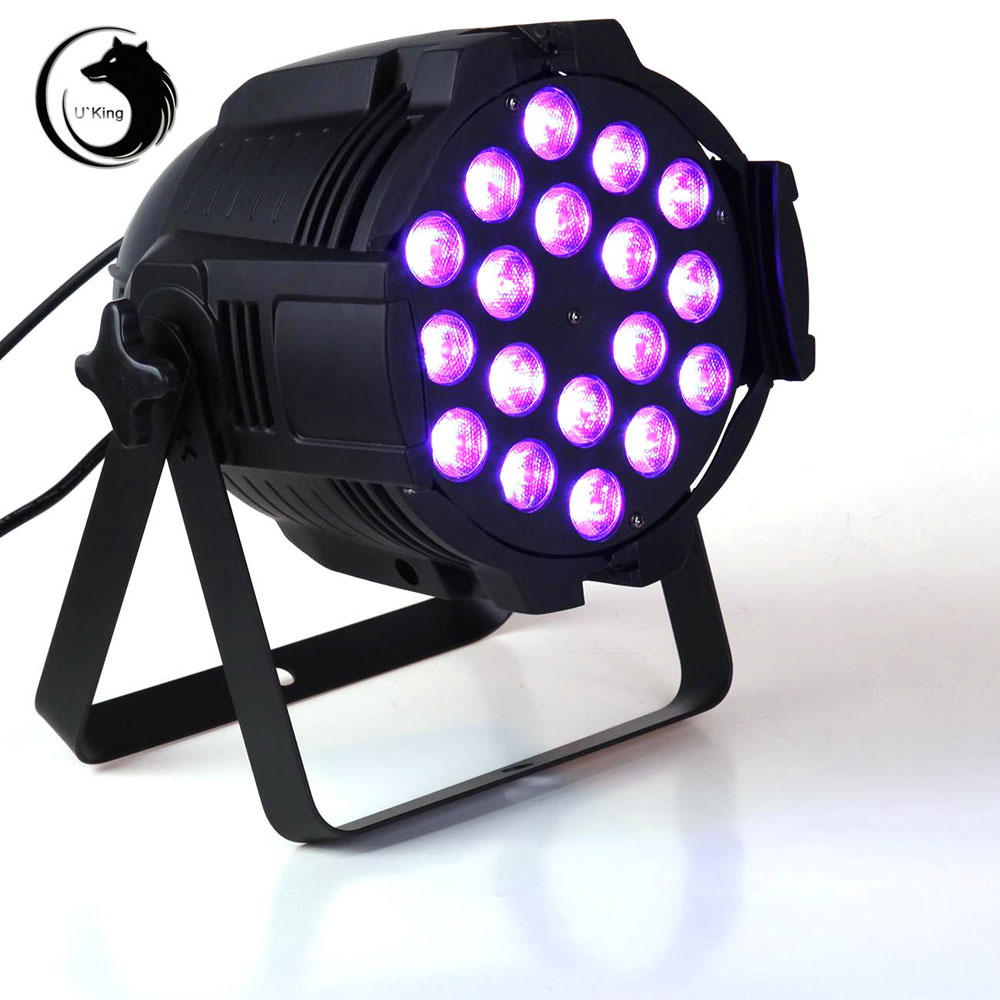 UKing ZQ-B35 240W 18-LED 4-in-1 RGBW-Lichtsteuerung Auto DMX512 Master-Slave-Synchronisationsmodi Stage Light Black