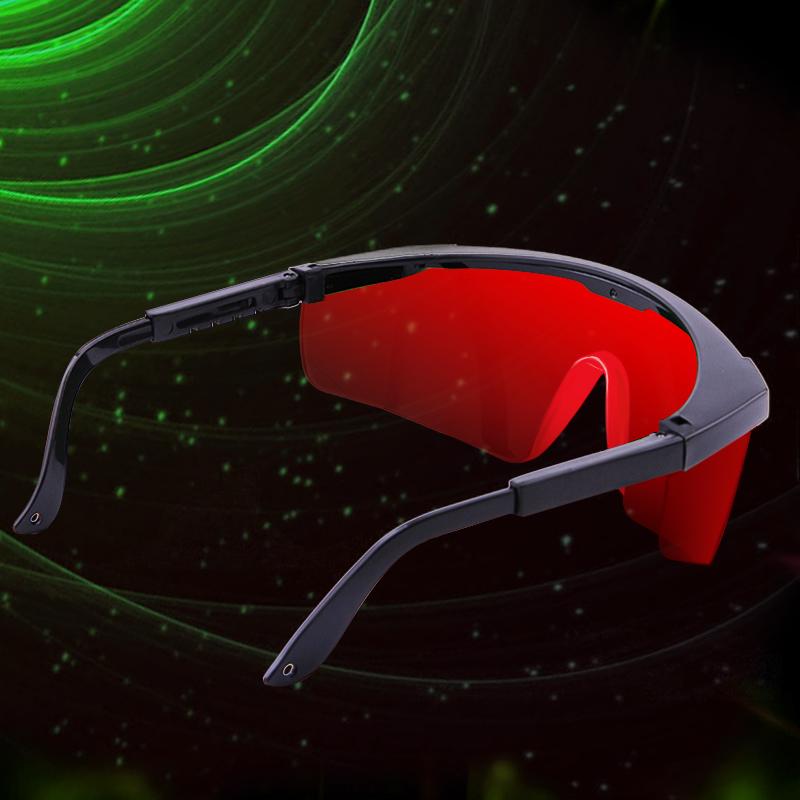 UKing ZQ-YJ04 520-532nm Verde Puntero láser Ojos Gafas protectoras Gafas rojas