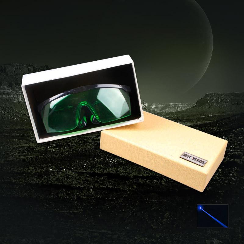 UKing ZQ-YJ06 450-473nm Occhi puntatore laser blu Occhiale protezione occhiali verdi