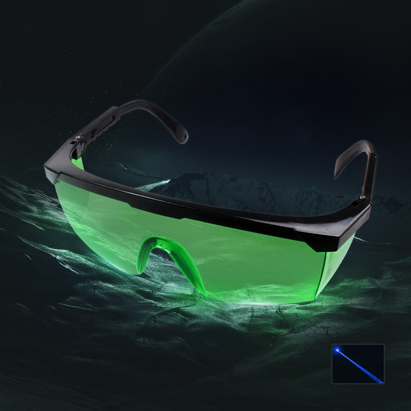 UKing ZQ-YJ06 450-473nm Blue Laser Pointer Eyes Protective Goggle Glasses Green