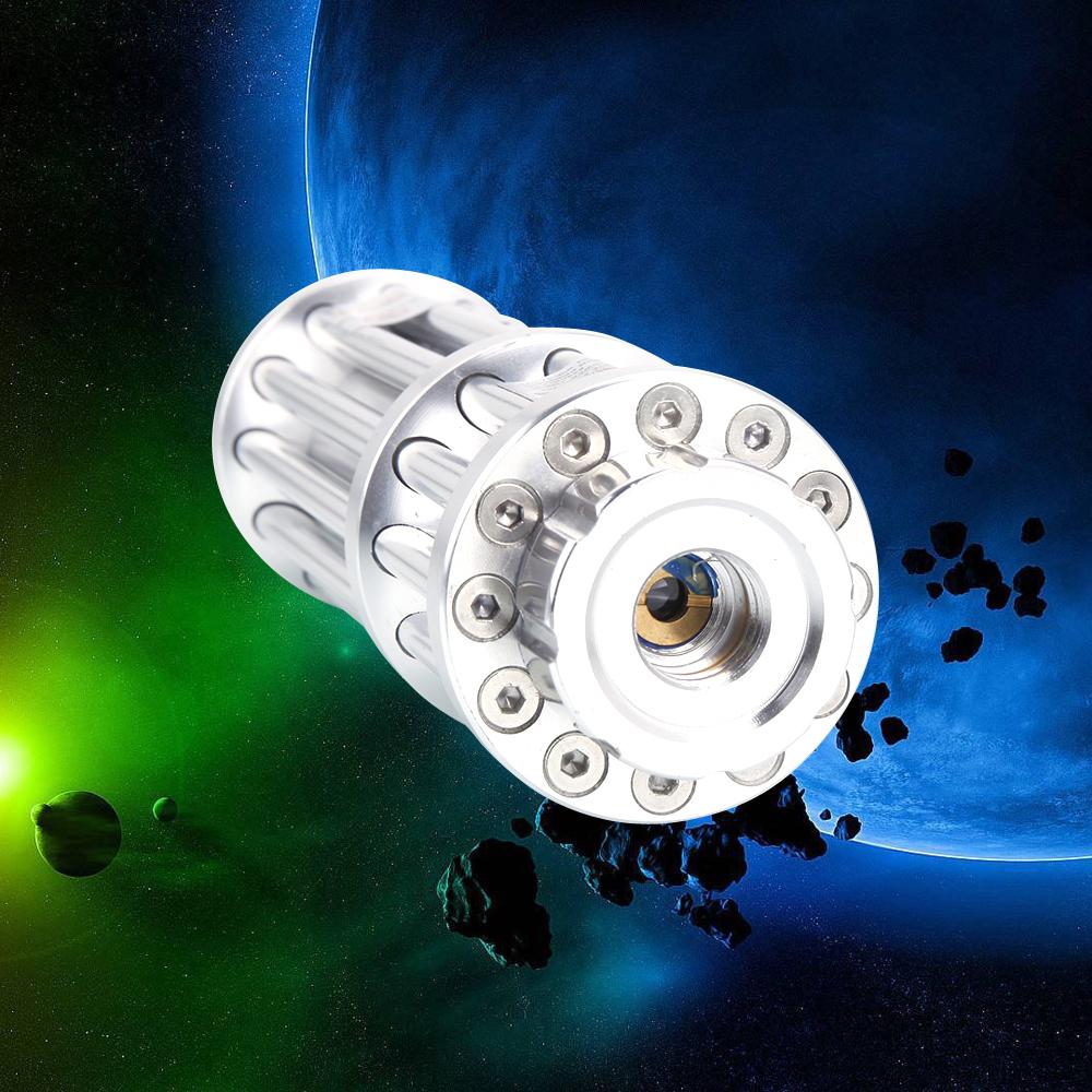 500mW 532nm lumière verte stylo pointeur laser 12 tube 5 tête argent
