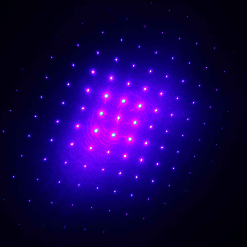 Prata 10000mW do espaço do laser da luz da cabeça cinco azul
