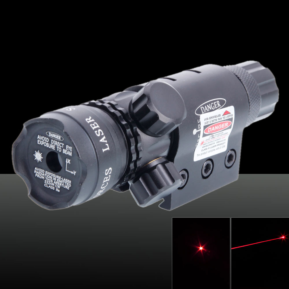 650nm 5mW Lotus Head Laser Scope Rotlicht Schwarz