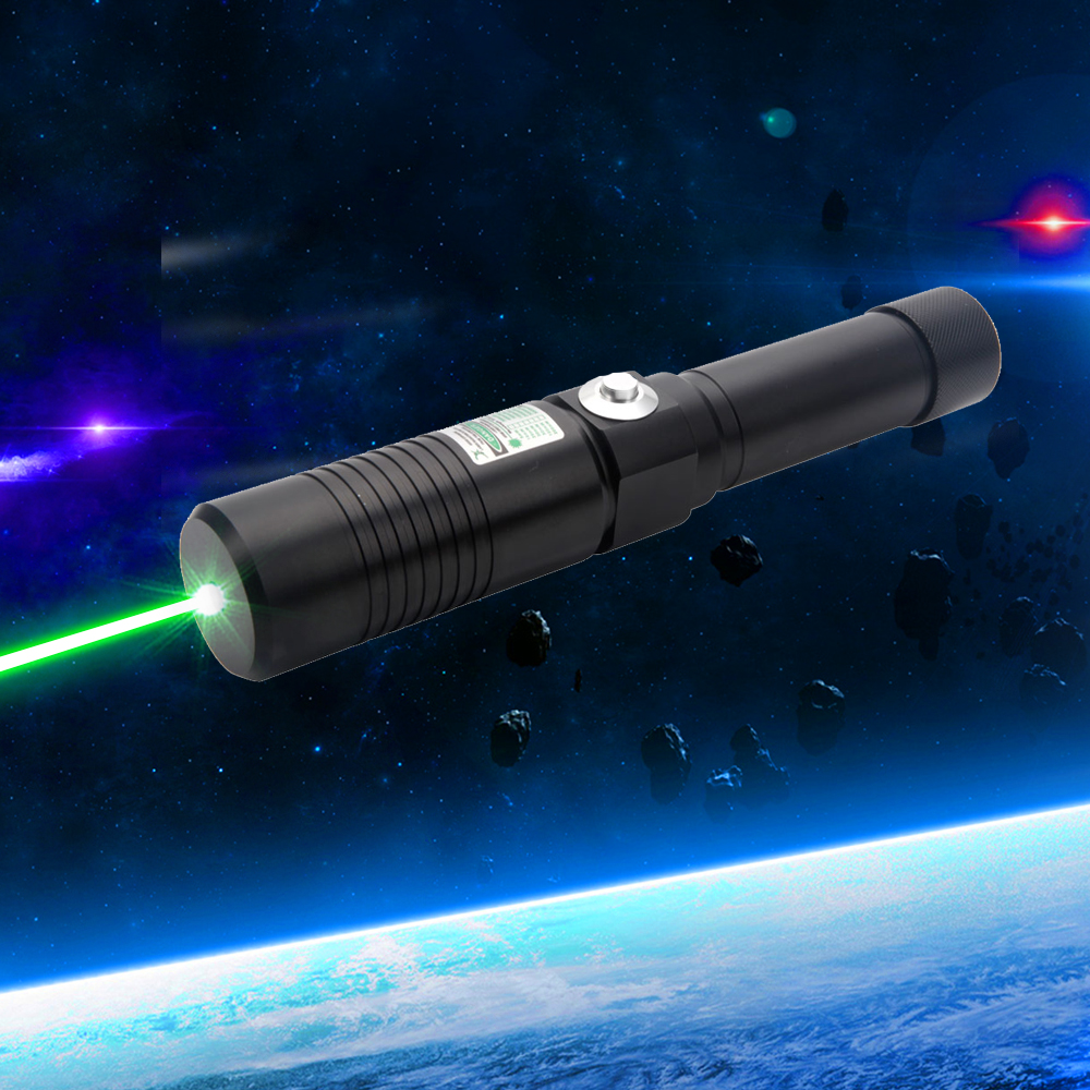 Separated Style High Power 30000mw 532nm Green Light Alloy Laser Pointer Black