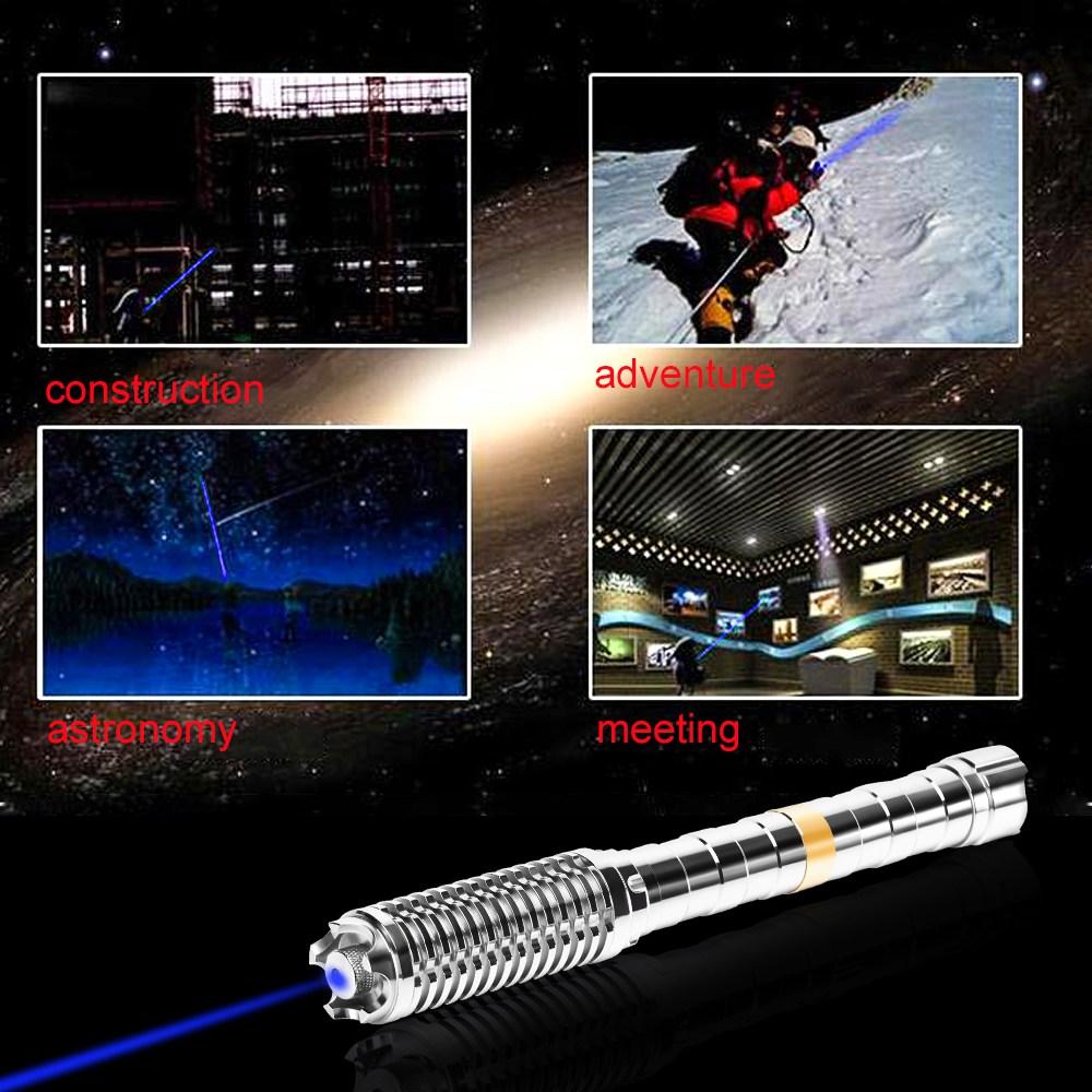 UKing ZQ-J37-T1 10000mw 450nm 5 en 1 deux pointeur laser bleu USB