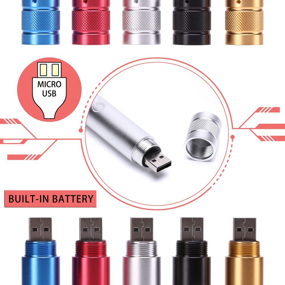 UKing ZQ-J35 5mw 532nm 5 en 1 USB Pointeur Laser
