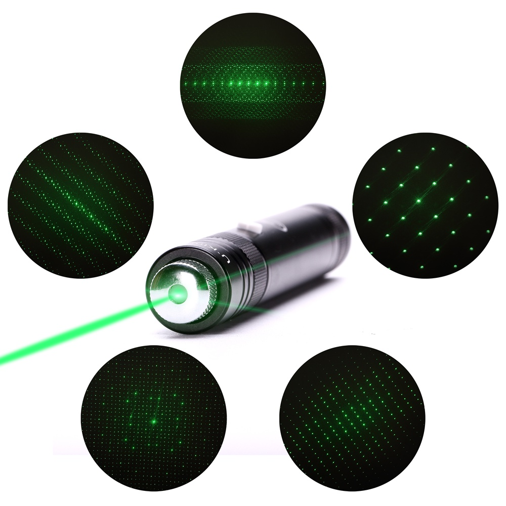 UKing ZQ-J36 50mw 532nm 5 in 1 USB Laser Pointer