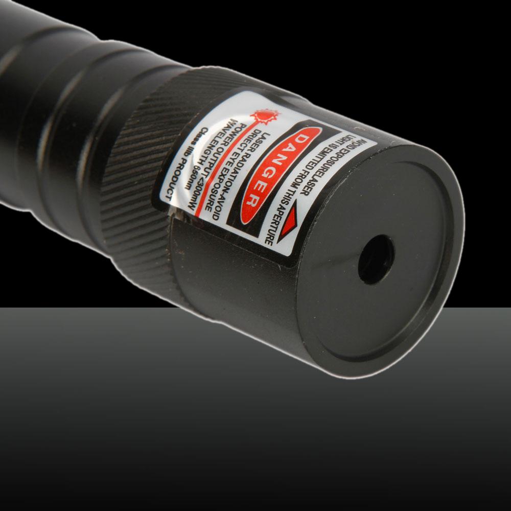 300mW 650nm Open-back Red Laser Pointer Pen Black(852-type)