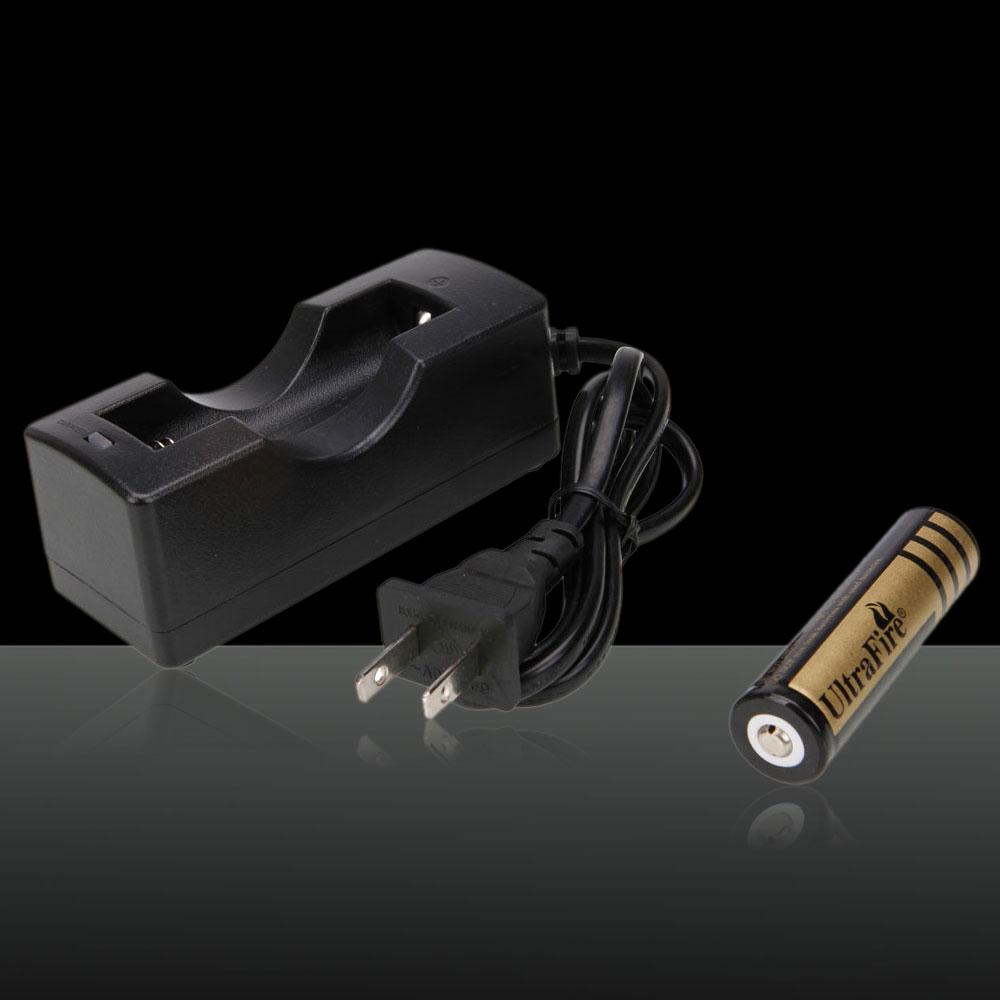 Chargeur de batterie 4.2V 650mAh avec batterie rechargeable 18650 4000mAh
