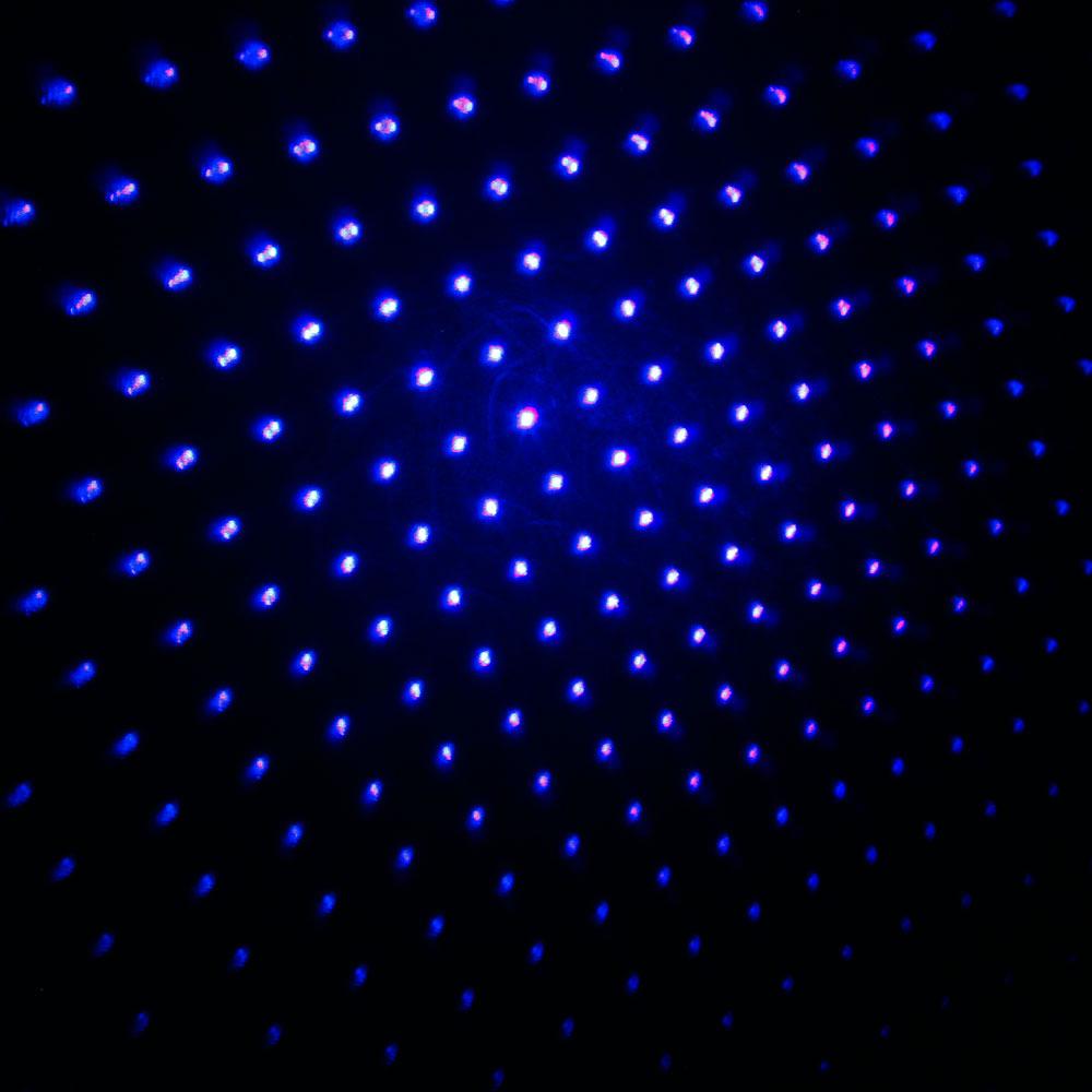 Laser 303 200WW Tuta puntatore laser blu professionale con batteria 18650 e caricatore nero