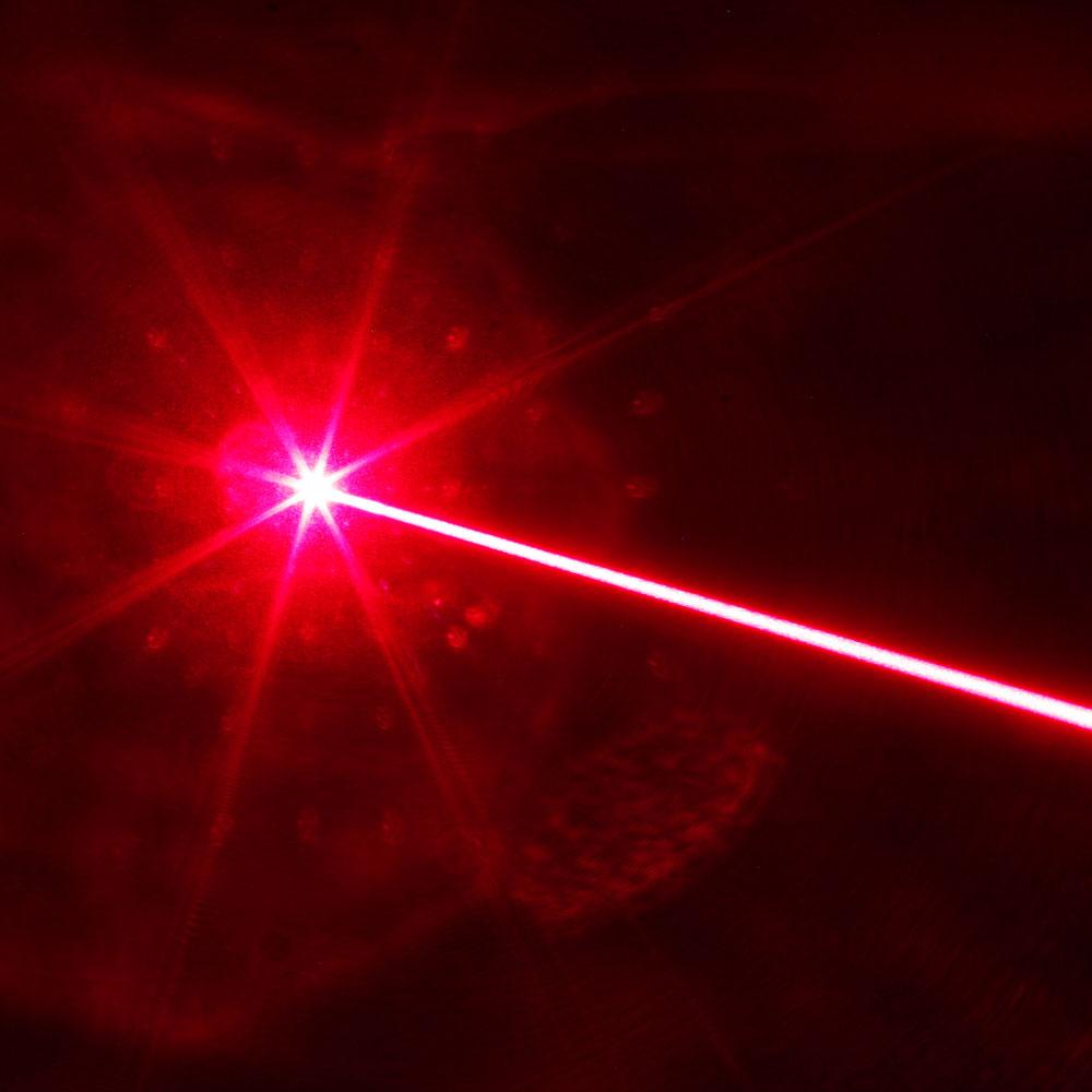 Costume de pointeur laser rouge professionnel 200mW avec batterie 16340 et chargeur noir
