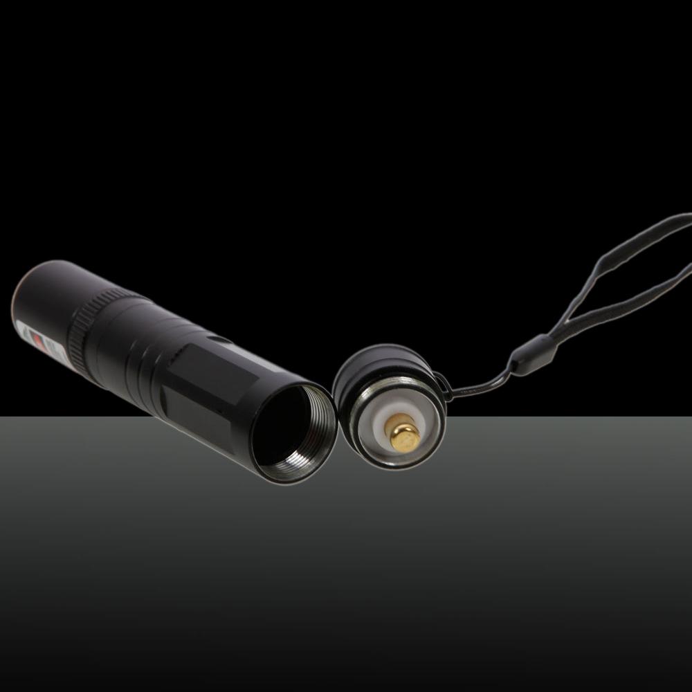 Terno profissional de 200mW para ponteiro laser verde com 16340 bateria e carregador preto (850)