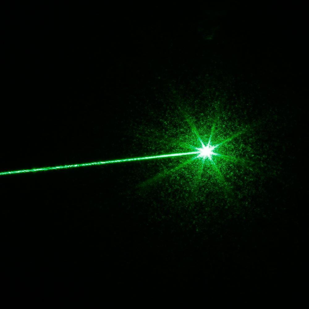 5mW 532nm focus stylo pointeur laser à faisceau de lumière verte avec 18650 batterie rechargeable noir