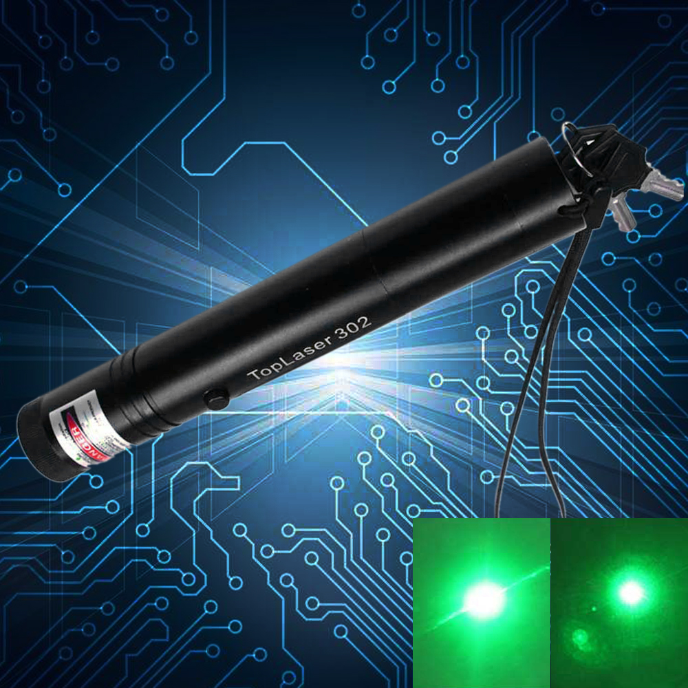 Puntero láser verde de alta potencia de 200 mW y 532 nm