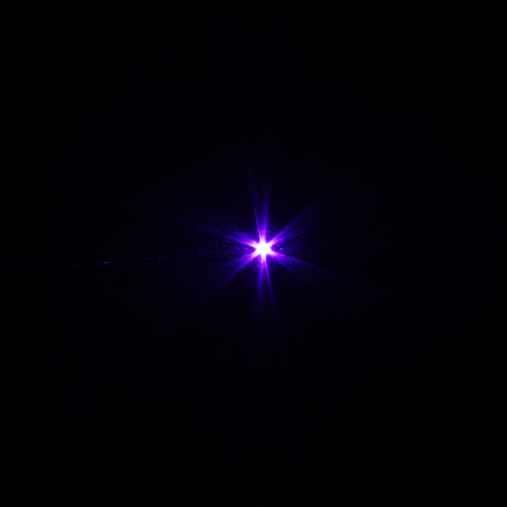150mW 405nm Ajuste a caneta ponteiro laser azul-violeta com bateria