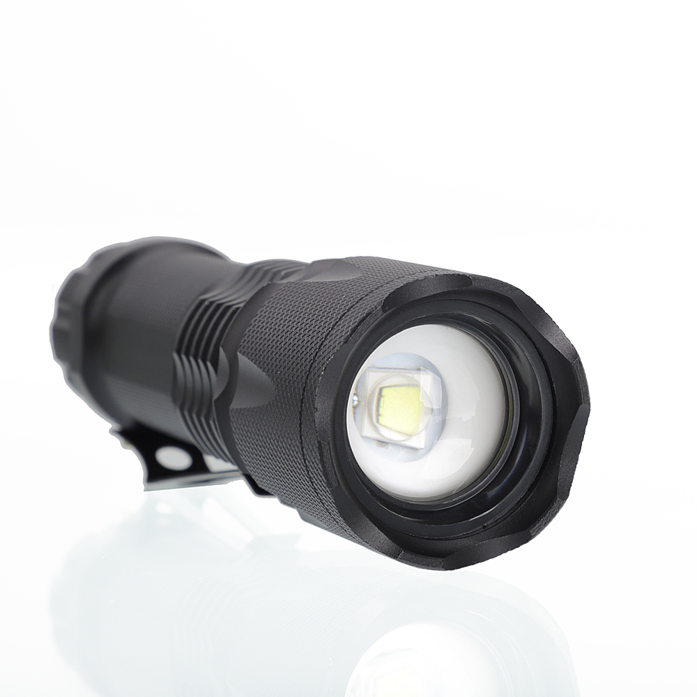 Ensemble de lampe de poche J6 2000LM Tactical Zooming Black