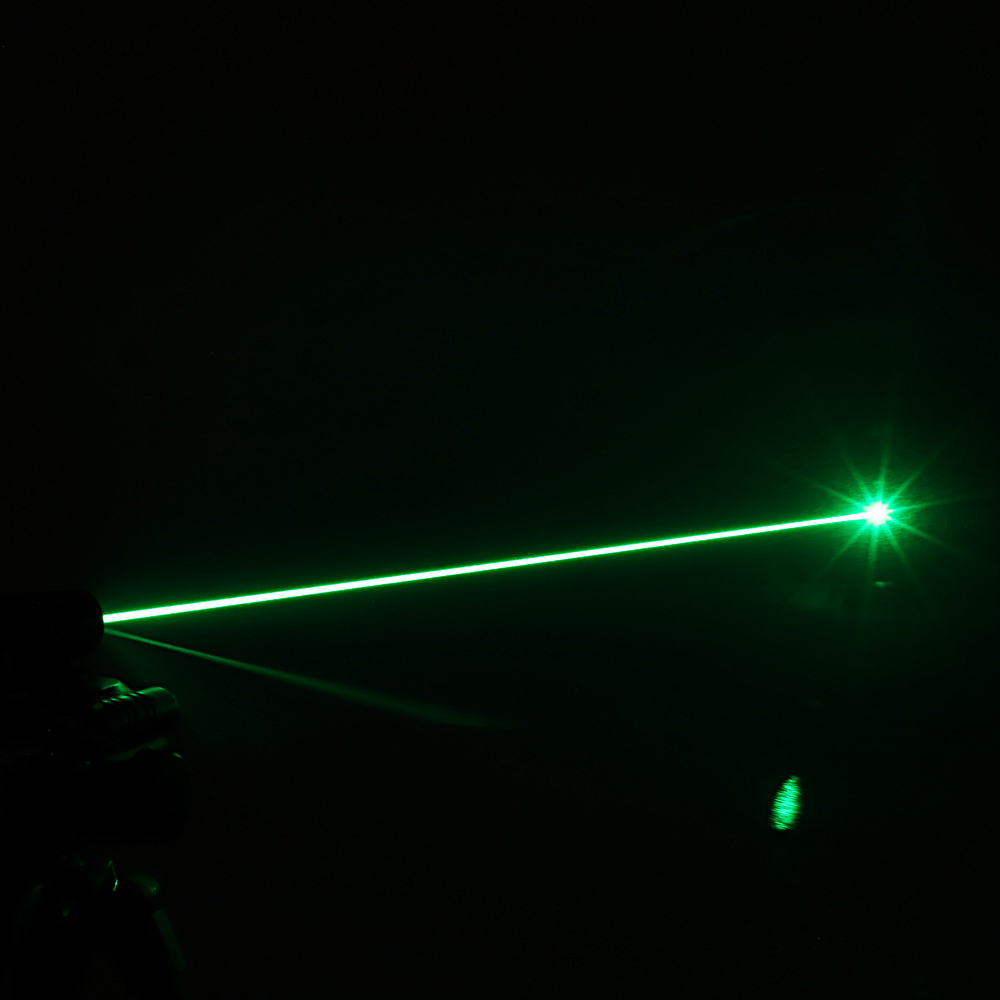 200mW 532nm Green Beam Light Single-point Rechargeable Laser Pointer Pen Silver