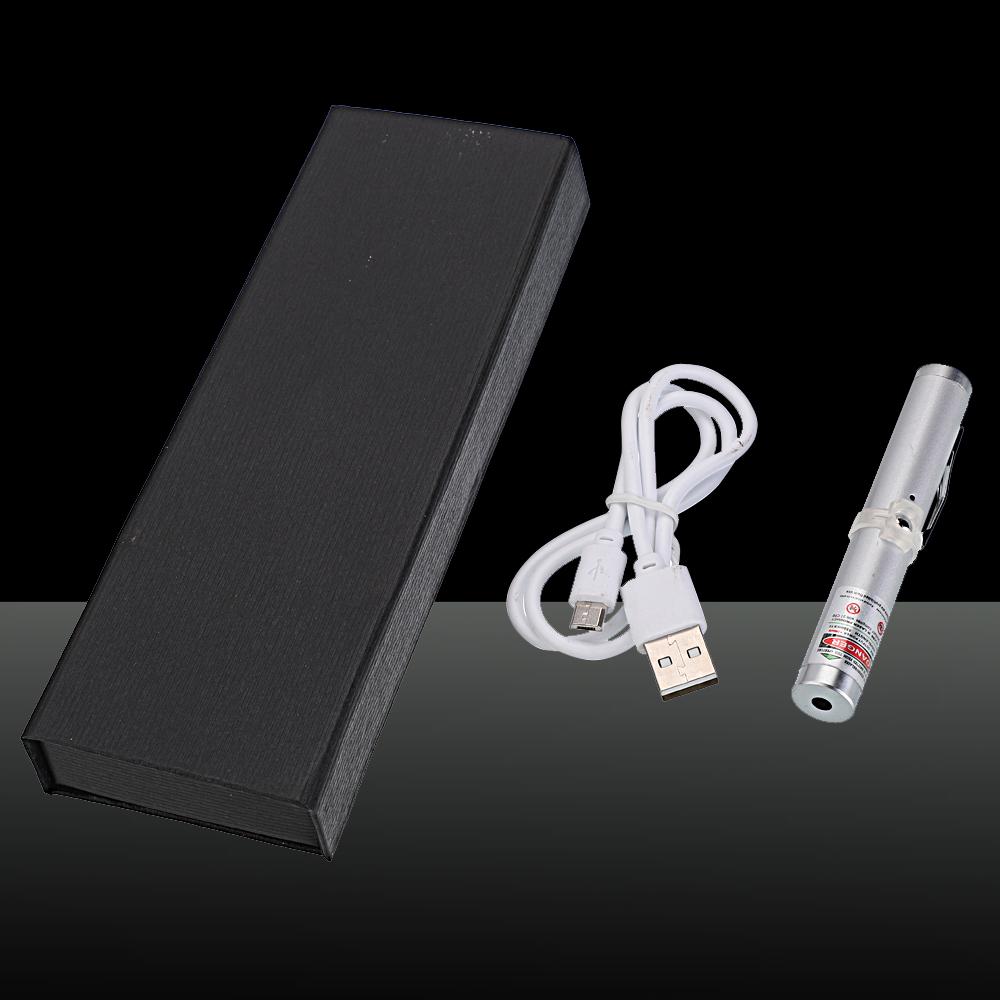 Penna puntatore laser ricaricabile a punto singolo da 200 mW 532nm verde a raggio singolo