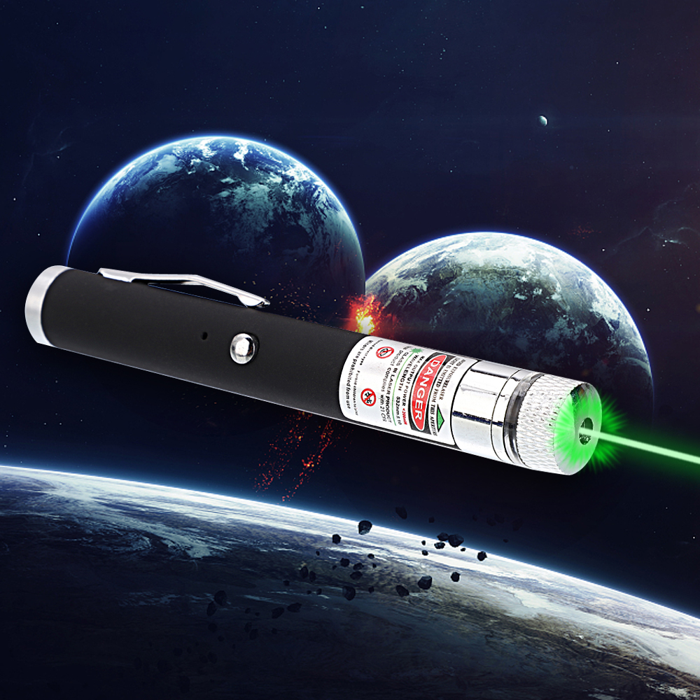 200mW 532nm Green Beam Light Starry Rechargeable Laser Pointer Pen Black