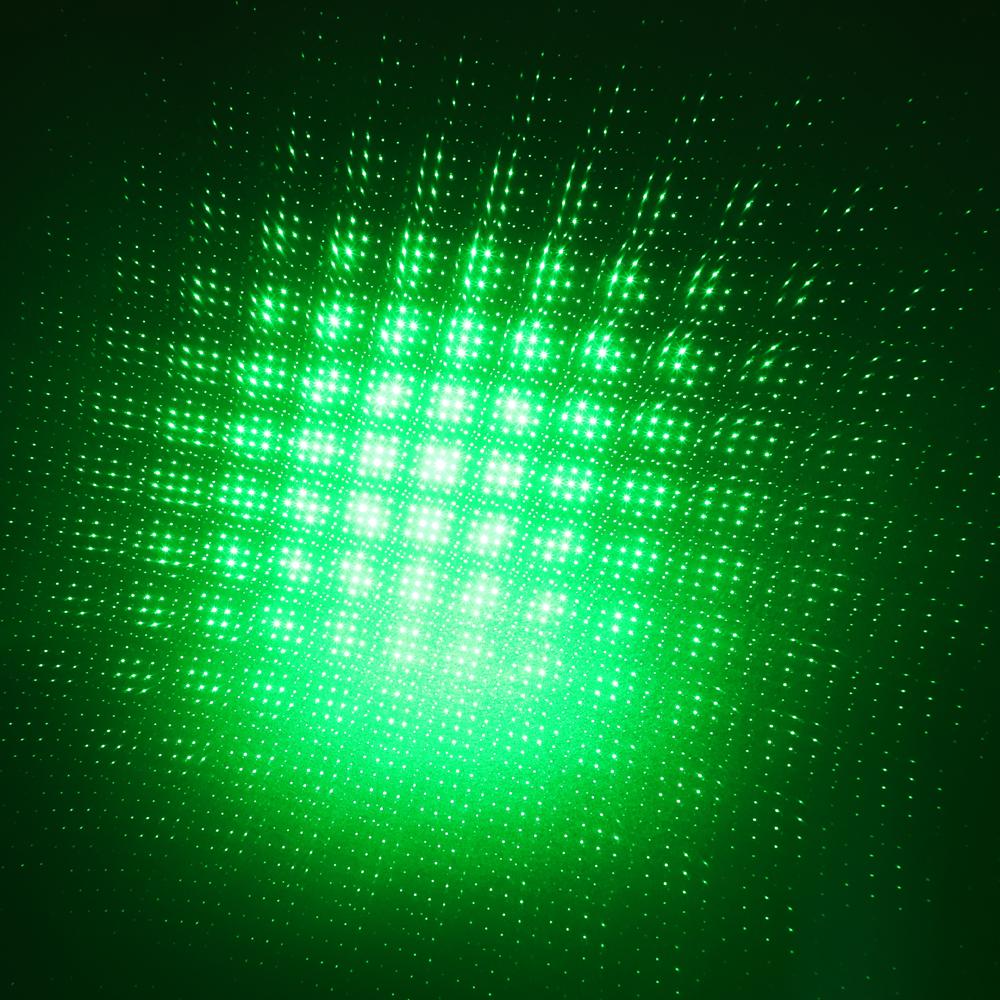 200mW 532nm Penna puntatore laser ricaricabile con luce verde a fascio di luce nera