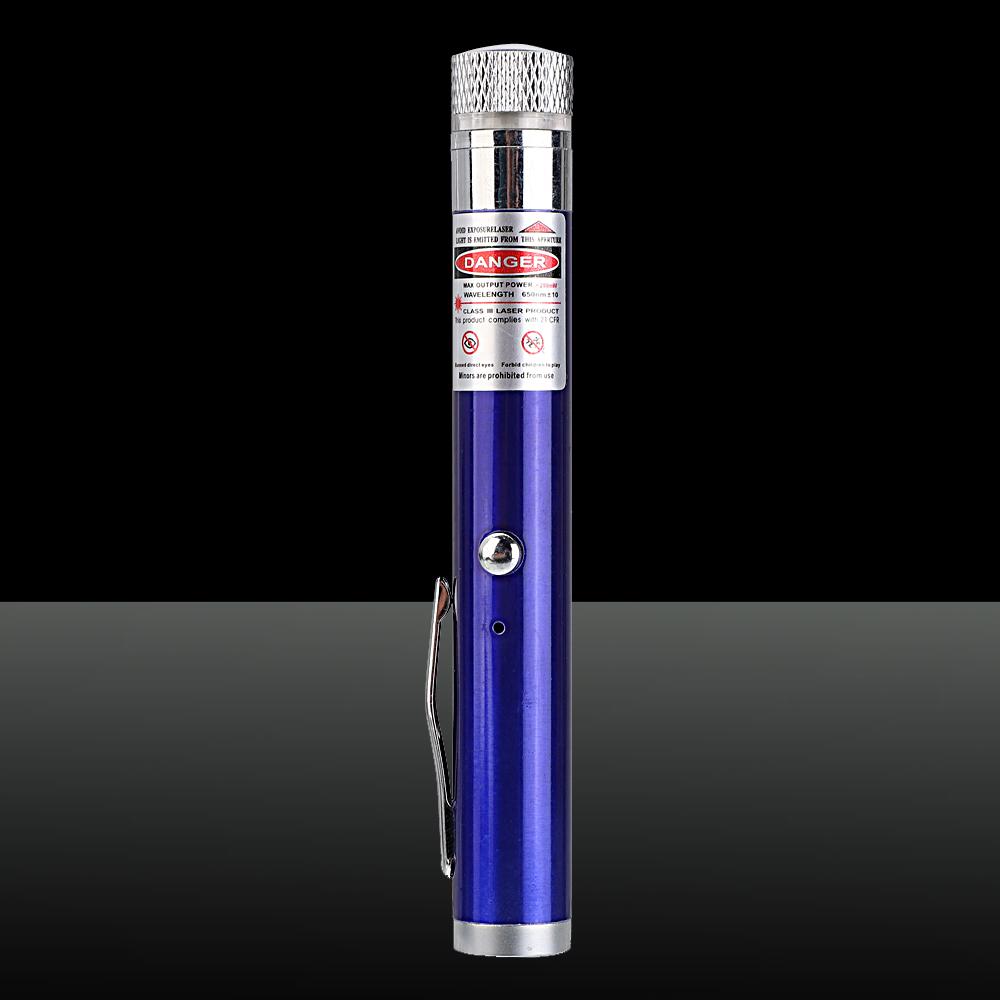 Pointeur laser rechargeable étoilé faisceau rouge 200mW 650nm bleu