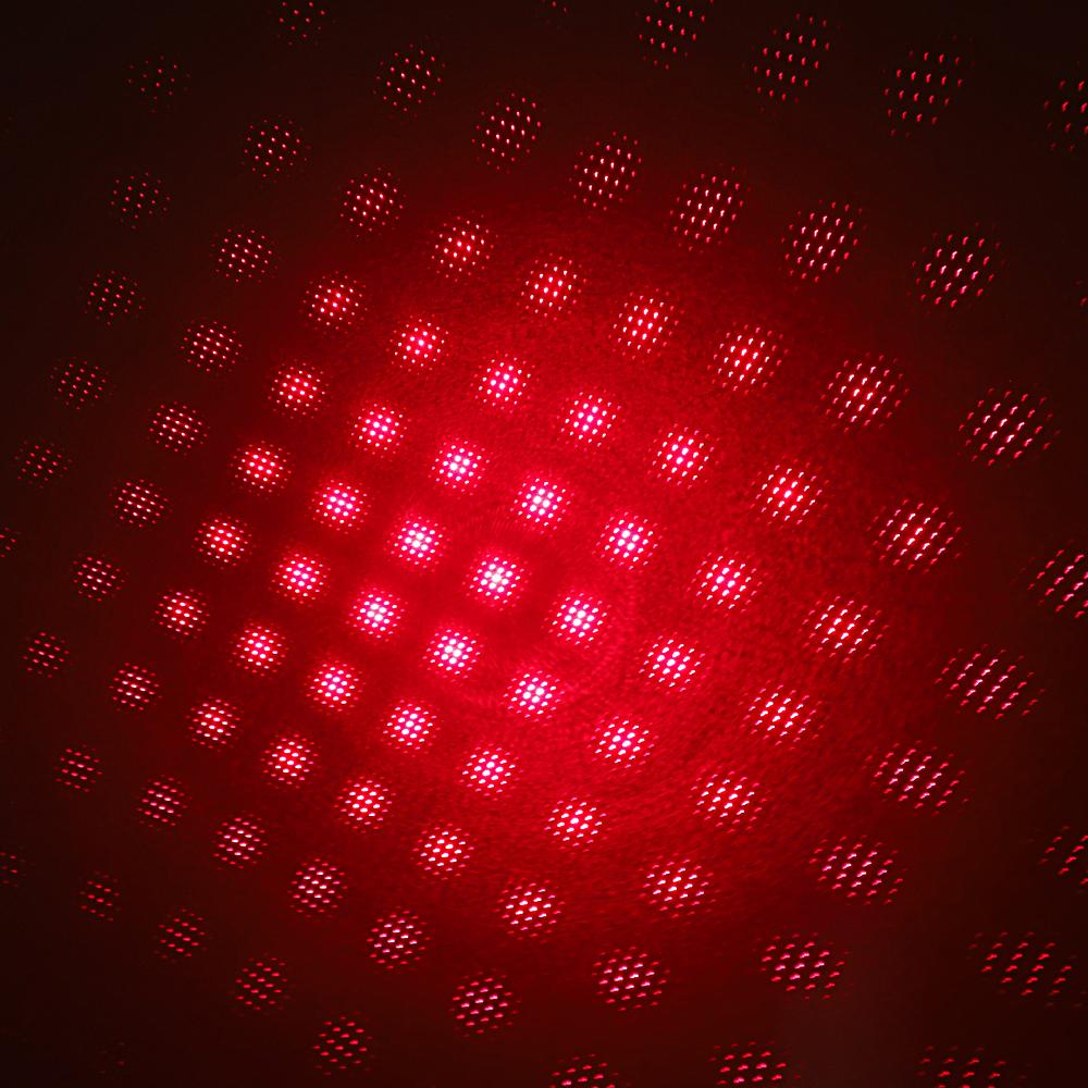 200mW 650nm Penna puntatore laser ricaricabile a luce rossa con raggio luminoso di colore blu