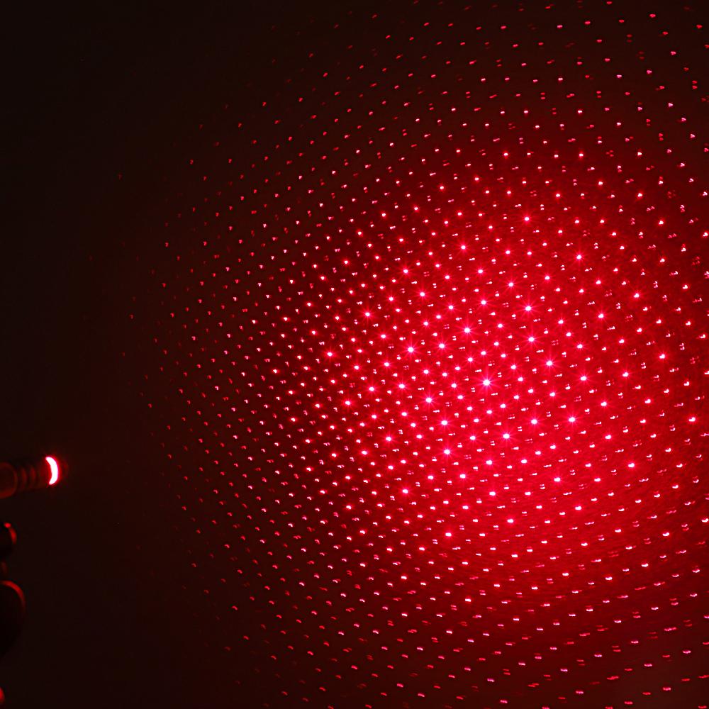 200mW 650nm Penna puntatore laser ricaricabile a luce rossa con raggio d'oro