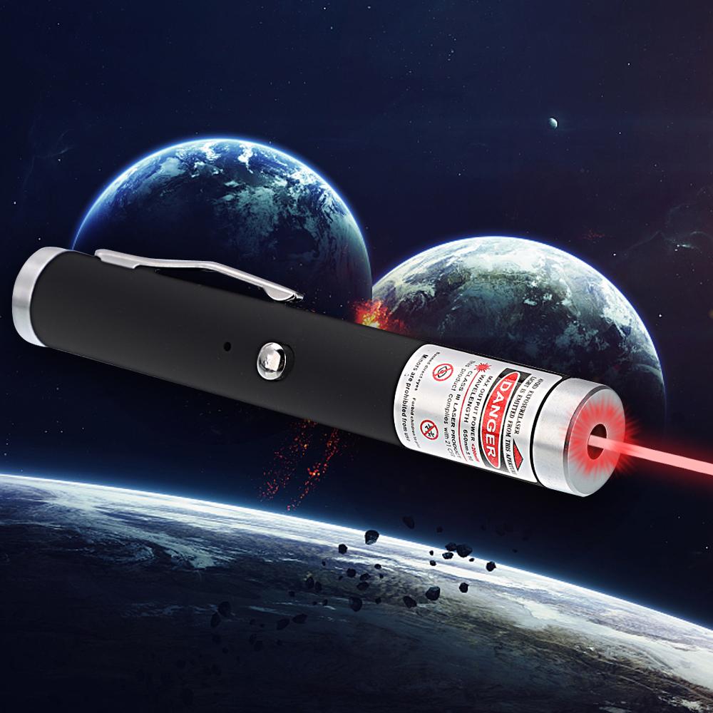 200mW 650nm Rotlichtstrahl-Einpunkt-wiederaufladbare Laserpointer Schwarz