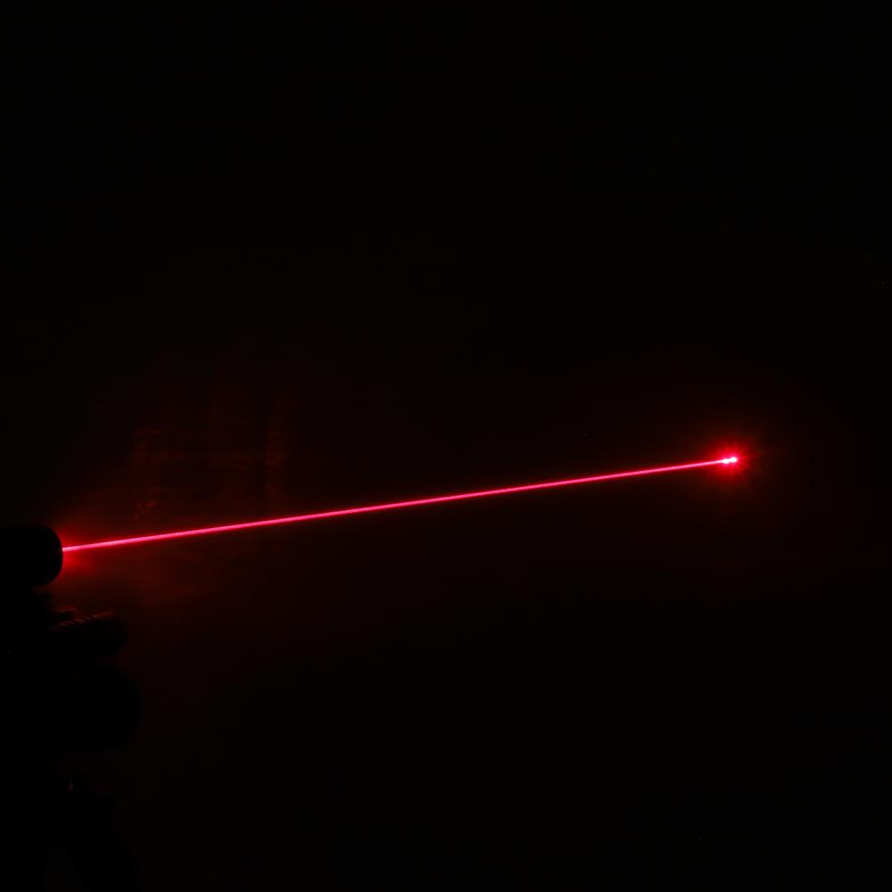 200mW 650nm Red feixe de luz ponto único recarregável Laser Pointer Pen Silver