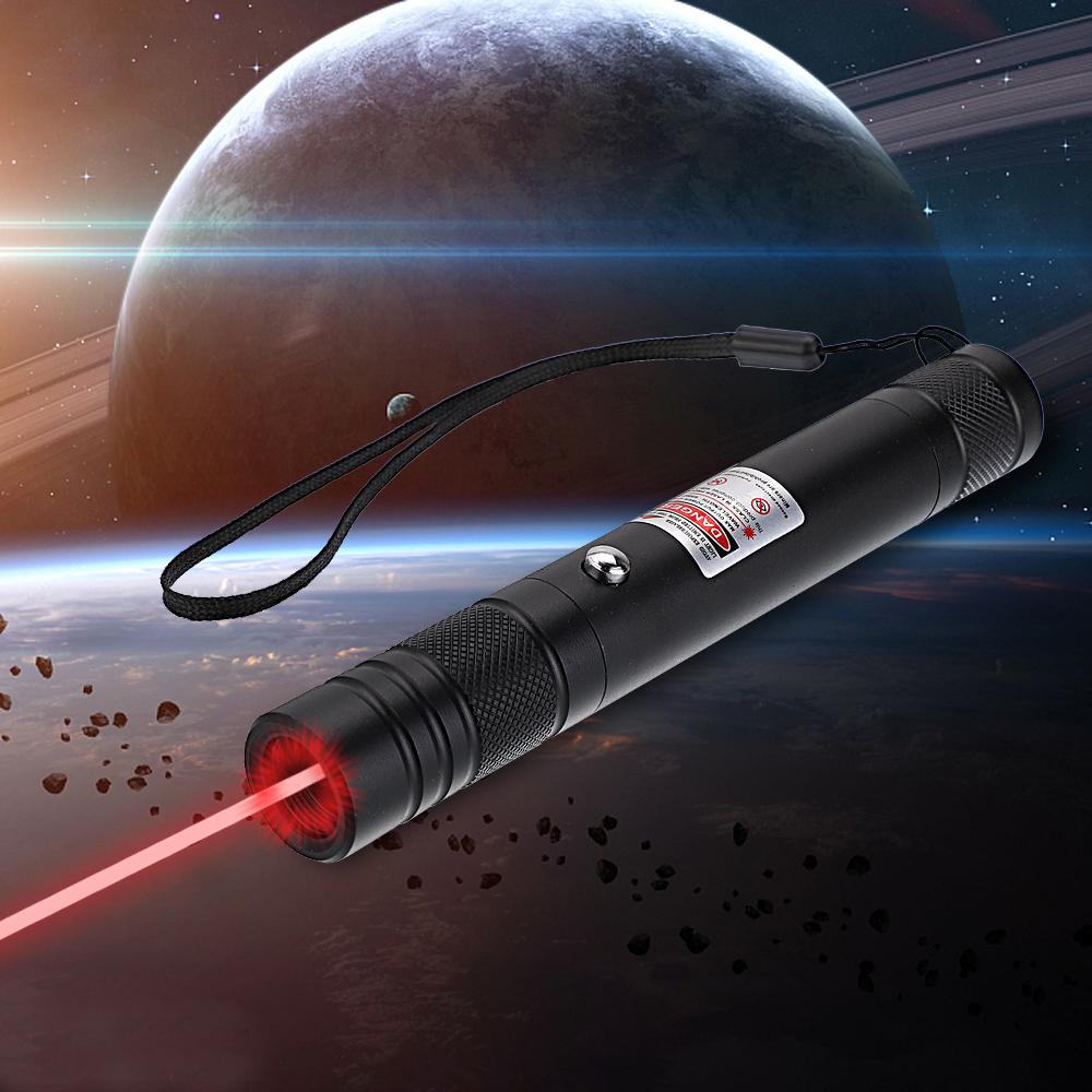 200mW 650nm recarregável ponteiro laser vermelho feixe de luz ponto único preto