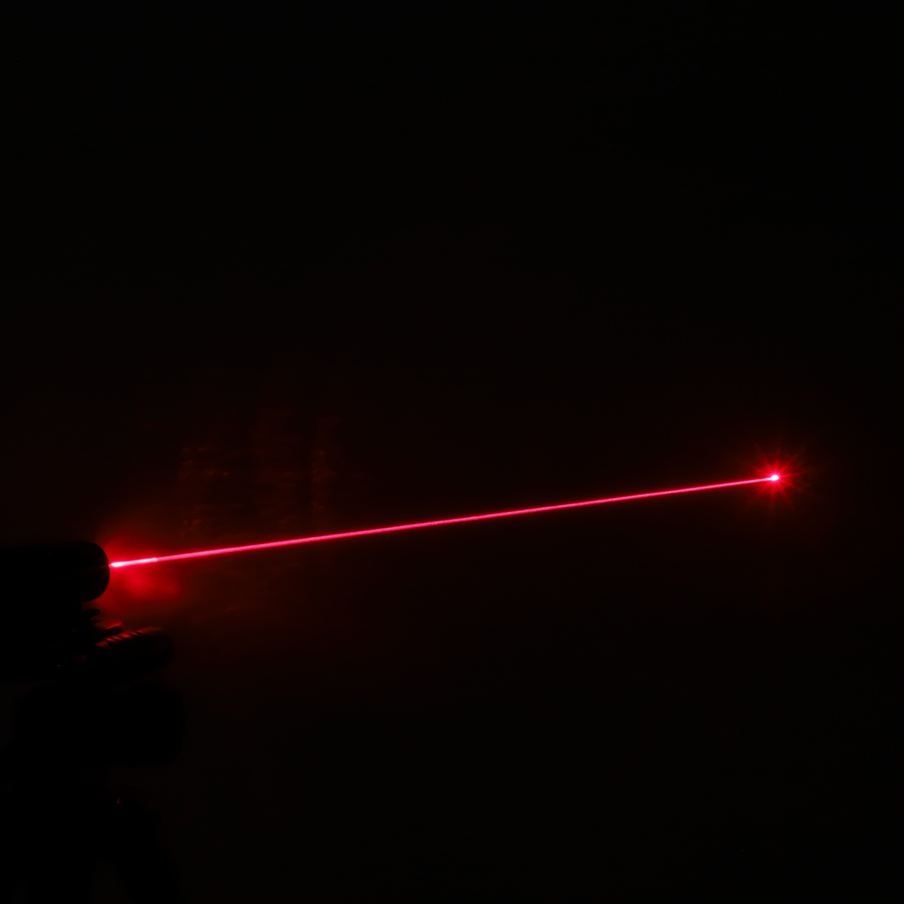 Pointeur laser rouge rechargeable 200mW 650nm, noir, point unique