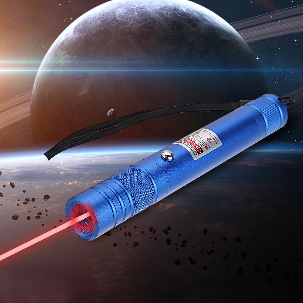 200mW 650nm recarregável ponteiro laser vermelho feixe de luz de ponto único azul