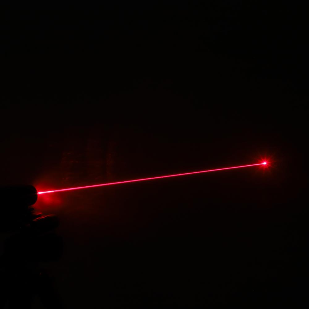 Luz de haz de láser rojo recargable de 200 mW 650 nm Punto único azul