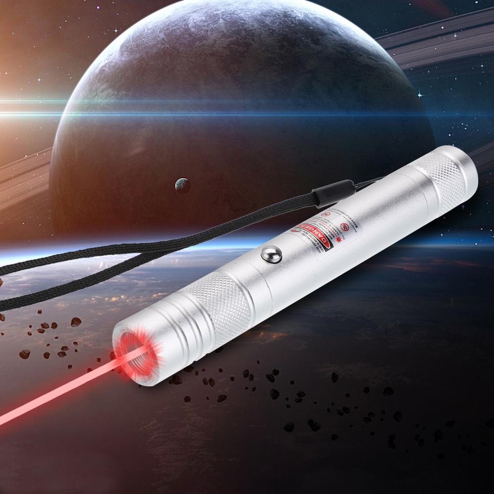 Luz de haz de puntero láser rojo recargable de 200 mW 650 nm Plata de un solo punto