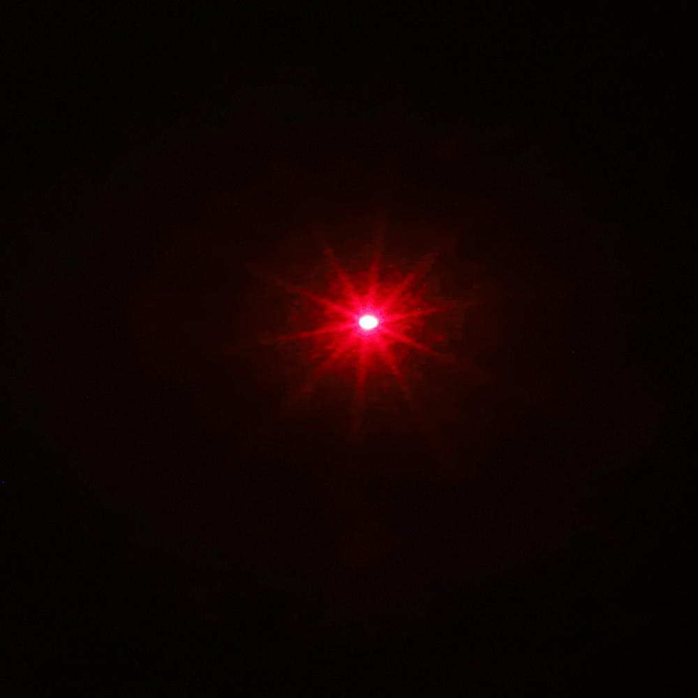 200mW 650nm wiederaufladbarer roter Laserpointer-Lichtstrahl Einzelpunkt-Silber