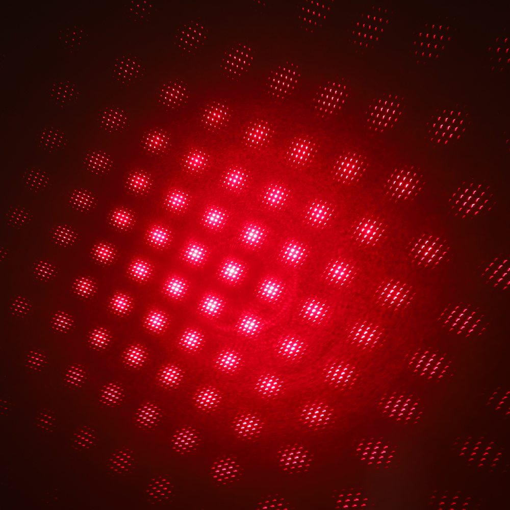 200mW 650nm Recarregável Vermelho Laser Pointer Beam Light Starry Black
