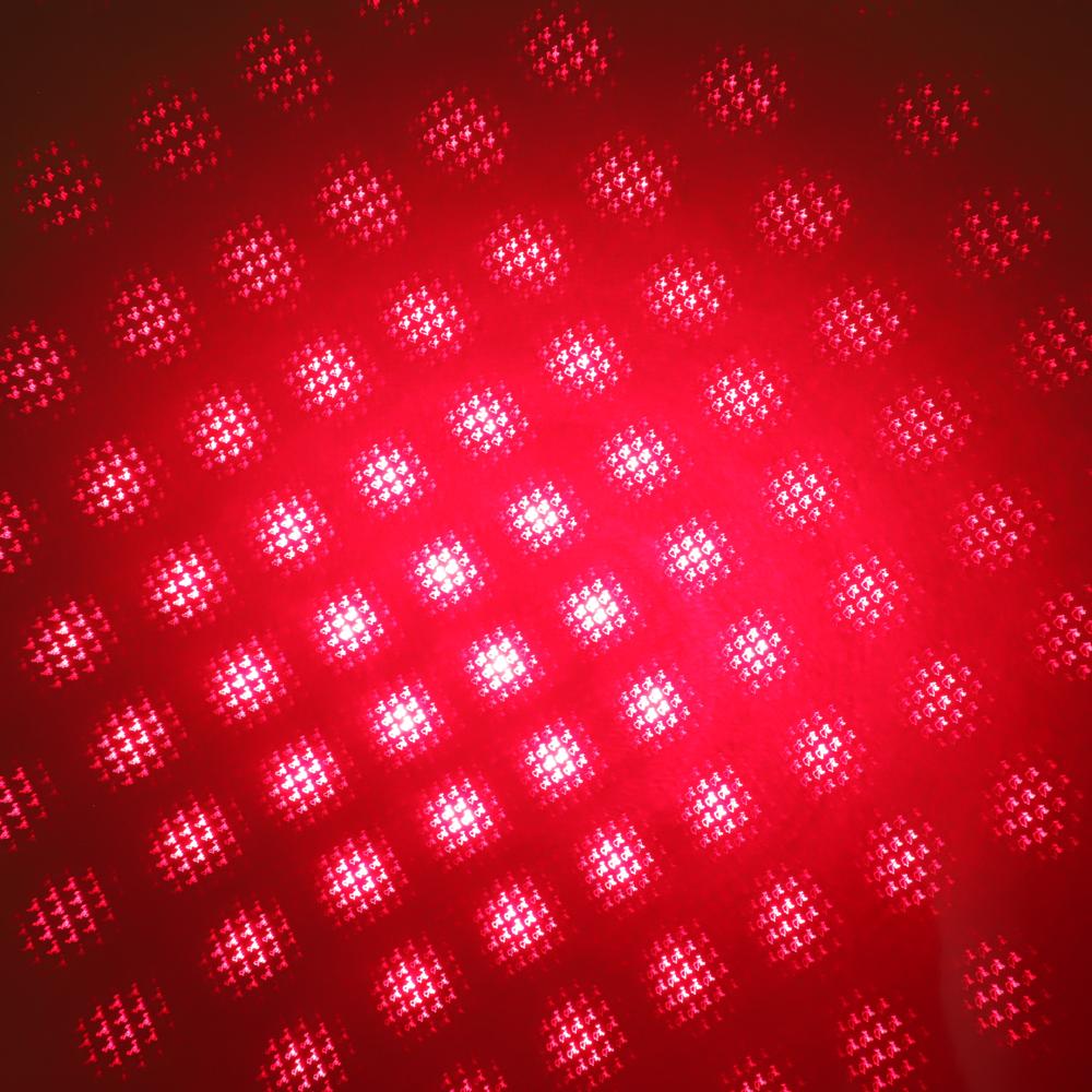 Luz de haz láser rojo recargable de 200 mW 650 nm Luz de estrella estrellada