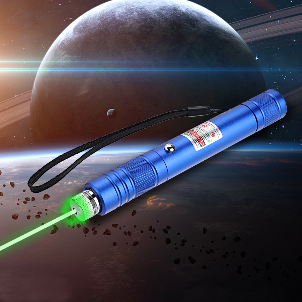 200mW 532nm Rechargeable Green Laser Pointer Beam Light Starry Blue