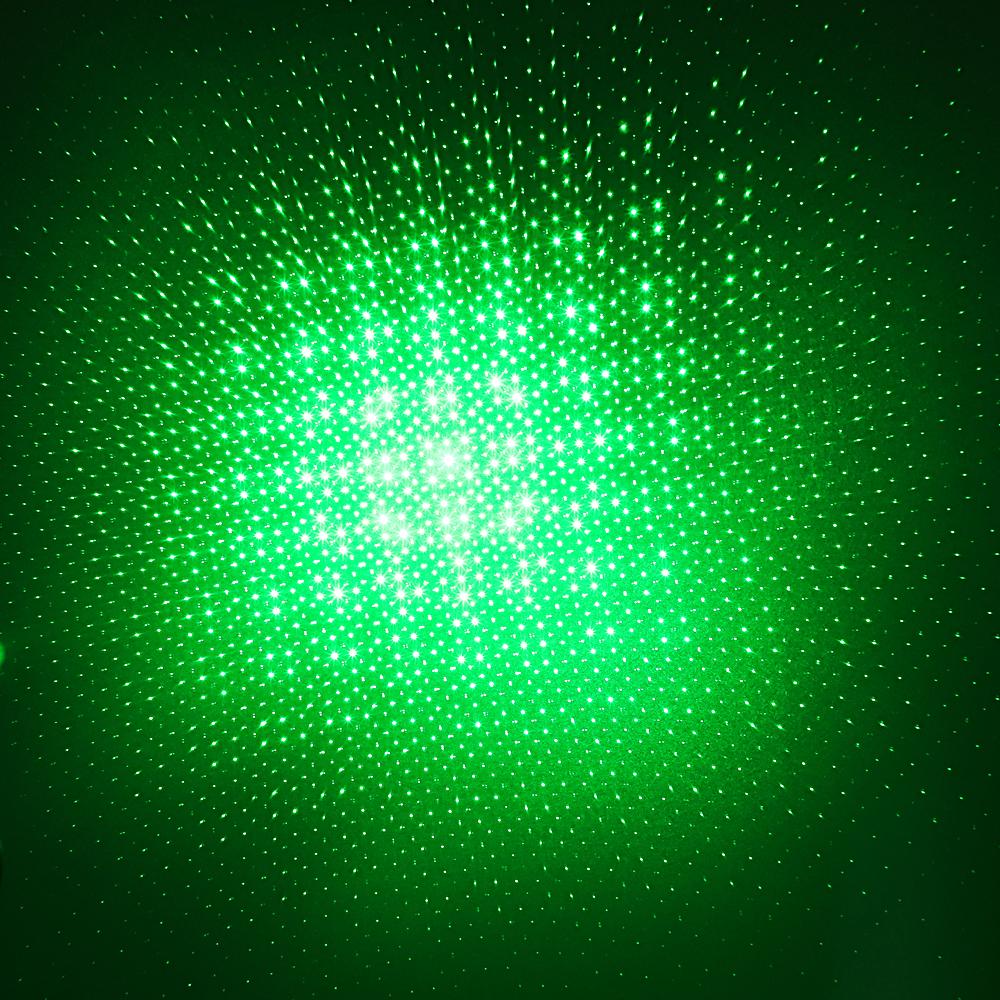 200mW 532nm wiederaufladbarer grüner Laserpointer strahlen Licht schwarz