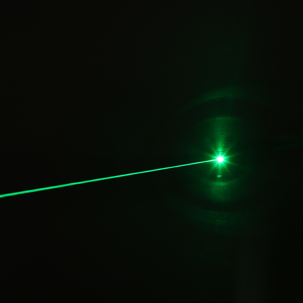 200mW 532nm Rechargeable Green Laser Pointer Beam Light Single-point Blue