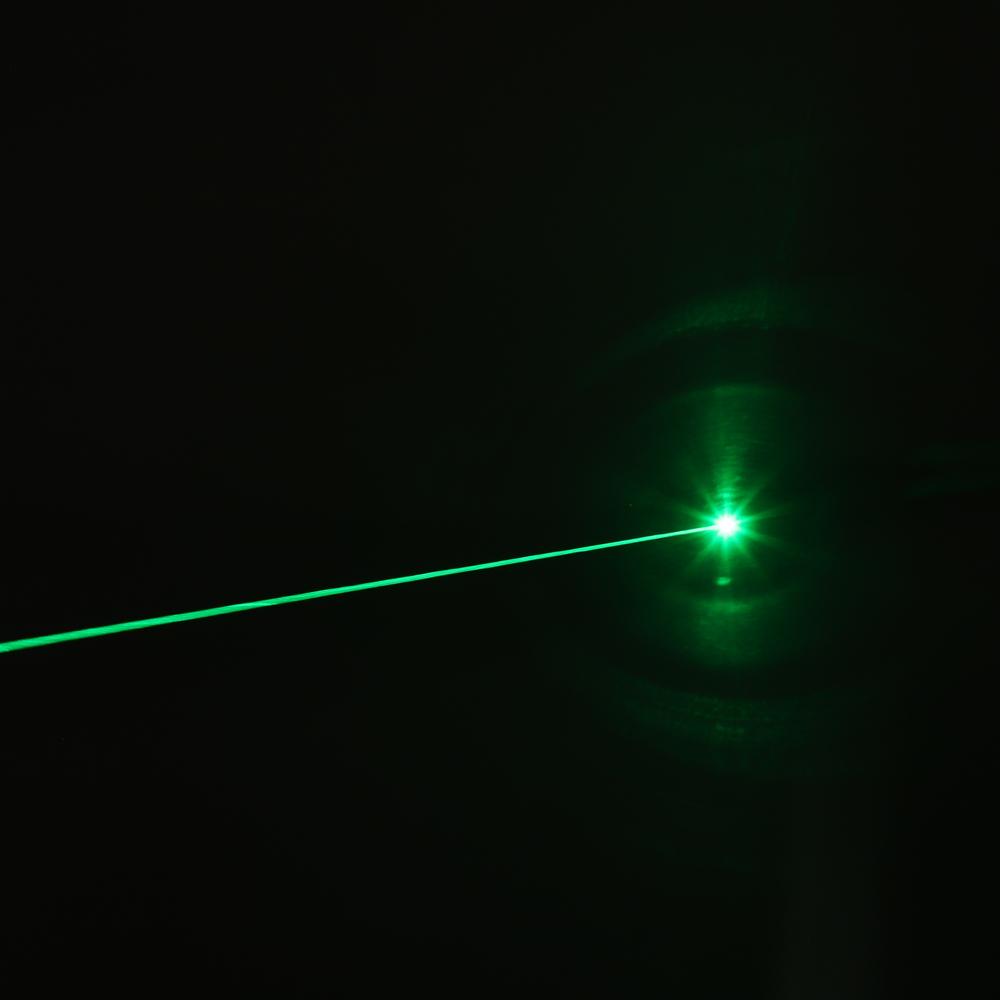 Luz de haz de puntero láser verde recargable de 200 mW 532 nm Azul de un solo punto