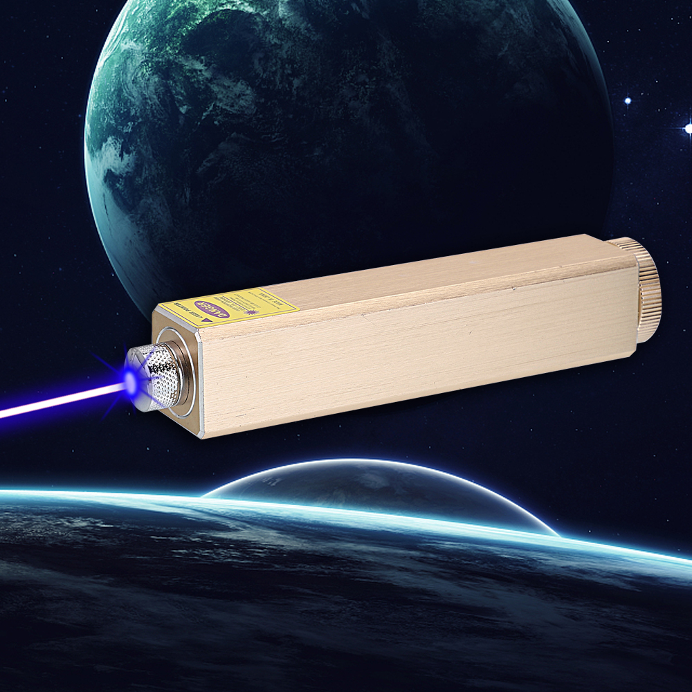 305 200mW 405nm 5 en 1 Rechargeable Blue Laser Pointer Beam Light Starry Laser Golden