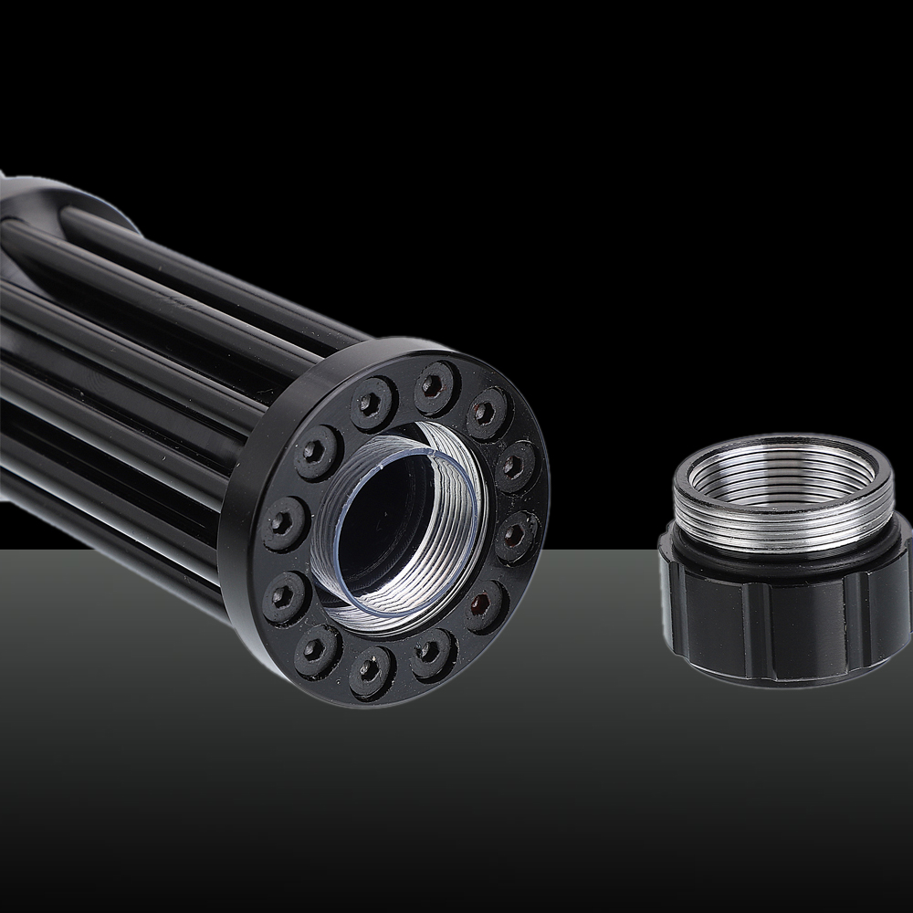 50000mw 450nm Gatling Burning Kit puntatore laser blu ad alta potenza con batteria nera