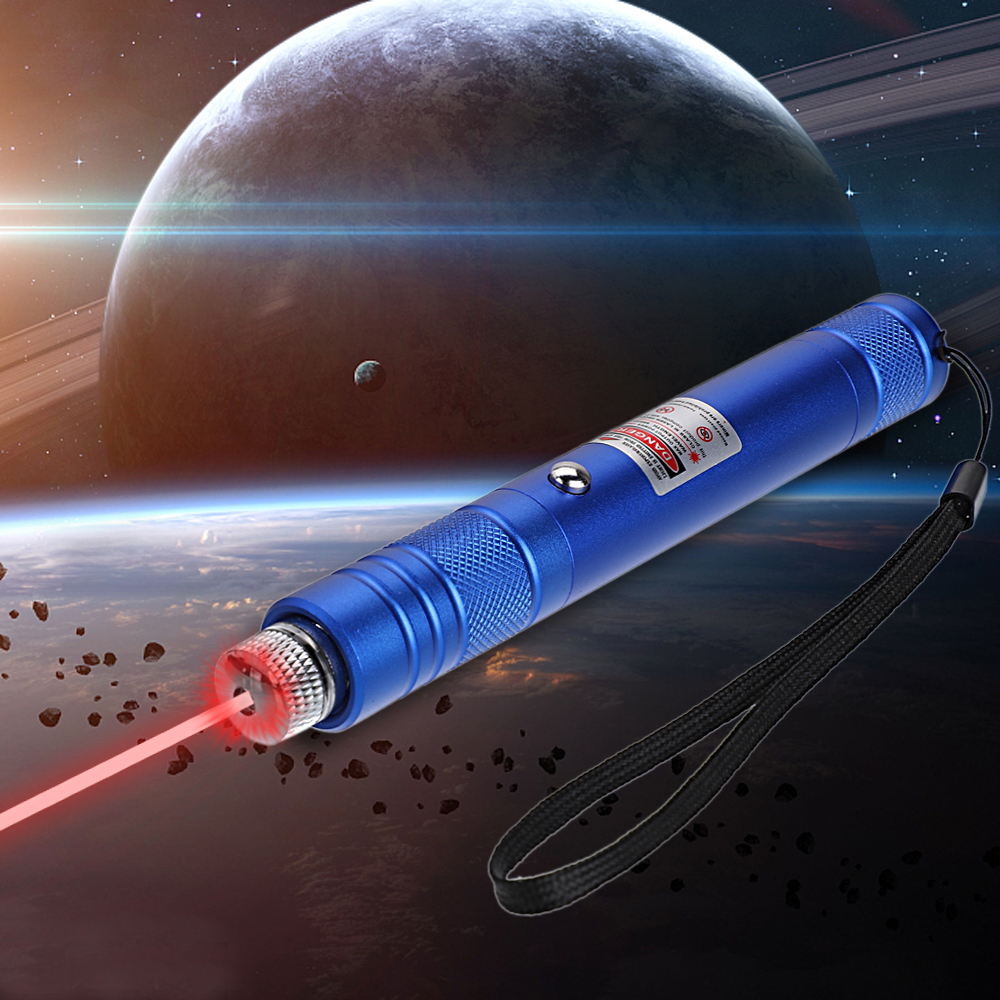 200mW 650nm Rechargeable Red Laser Pointer Beam Light Starry Blue