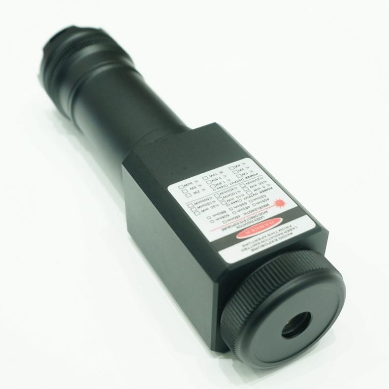 QL638 50000 mw 638nm Duplo Laser Feixe de Luz de Mergulho Queima de Alta Potência De Laser Vermelho Pointe