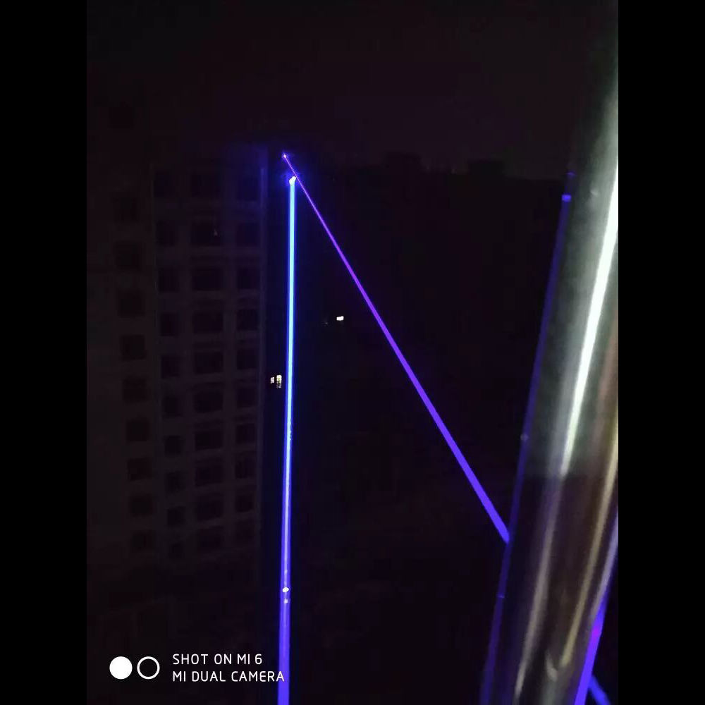 QL465 50000mw 465nm Buceo Quema puntero láser azul de alta potencia