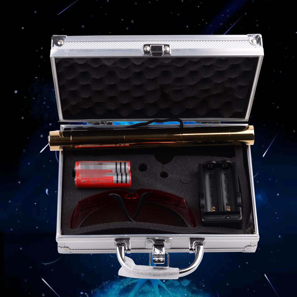 Kits de pointeur laser bleu brûlant 500mw 450nm doré 008r