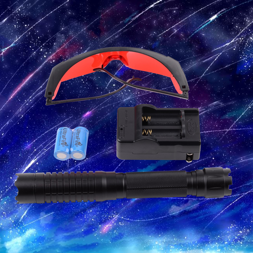 10000mW Five Head Blue Light Laser Scope Negro